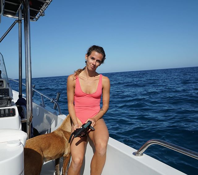 Sunday funday. #funday #boat #puppies #babe #freediving #loscabos #indigoadventures @caitthegreat3