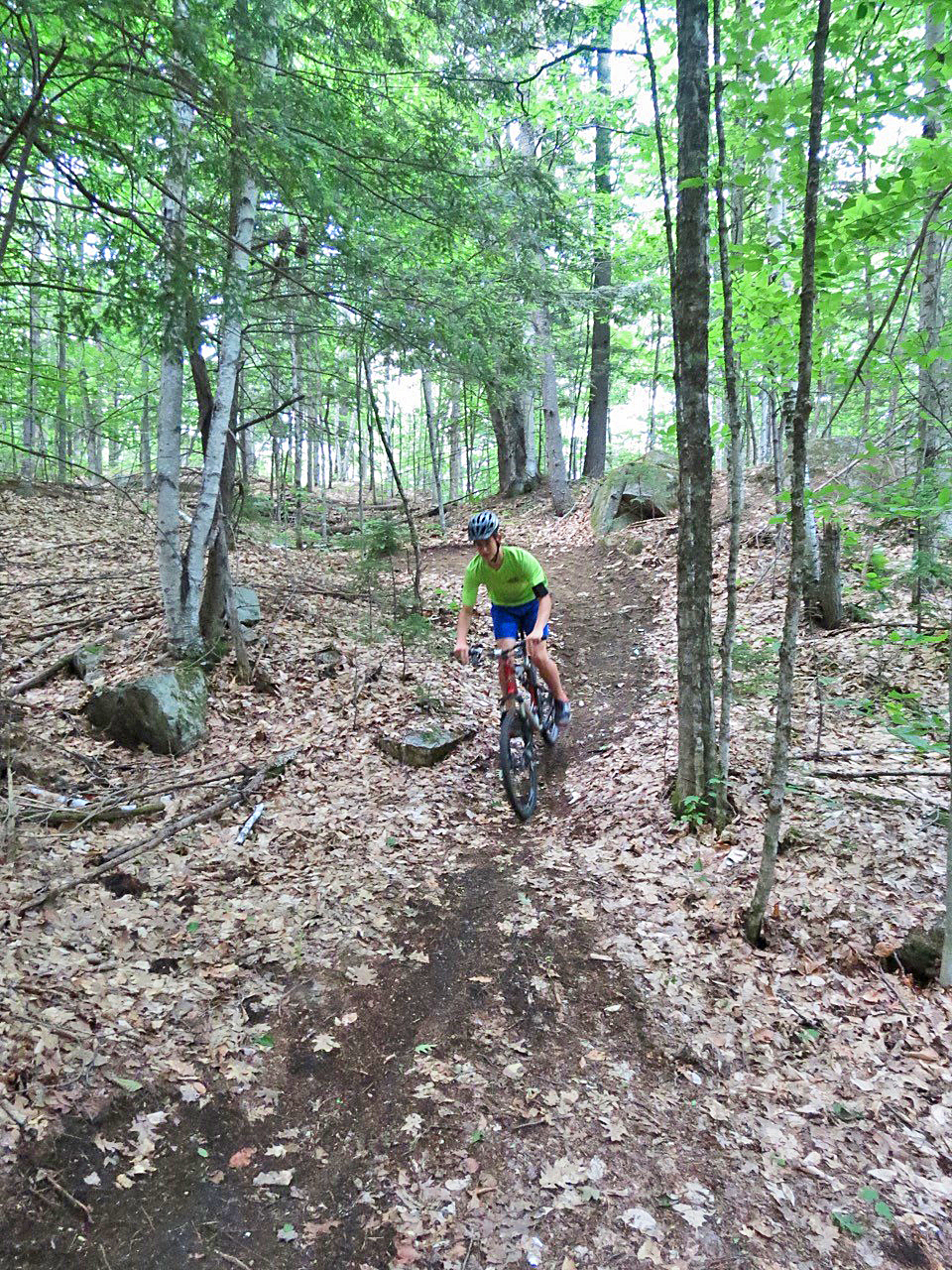 Ski Bowl Park: Brendan Tomb of North Creek riding Mo at Snakes Tongue in June 2015.  Steve Ovitt