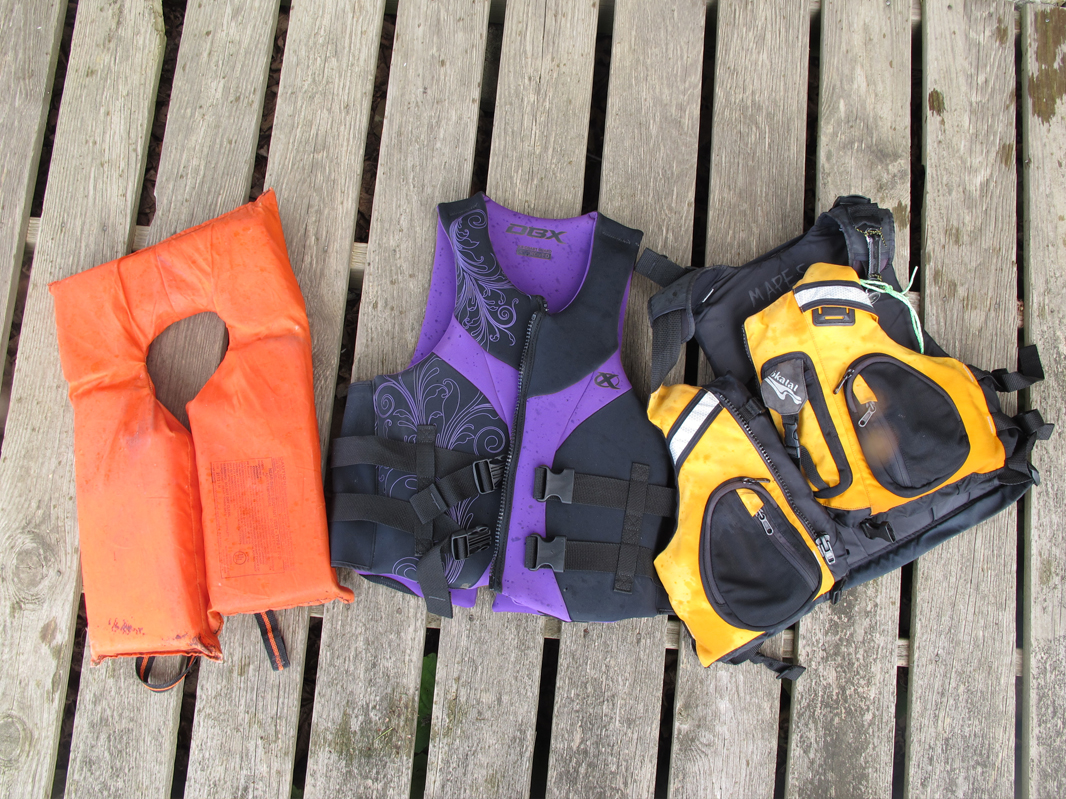 The life jacket on the right is comfortable enough to wear – always.  Alan Mapes