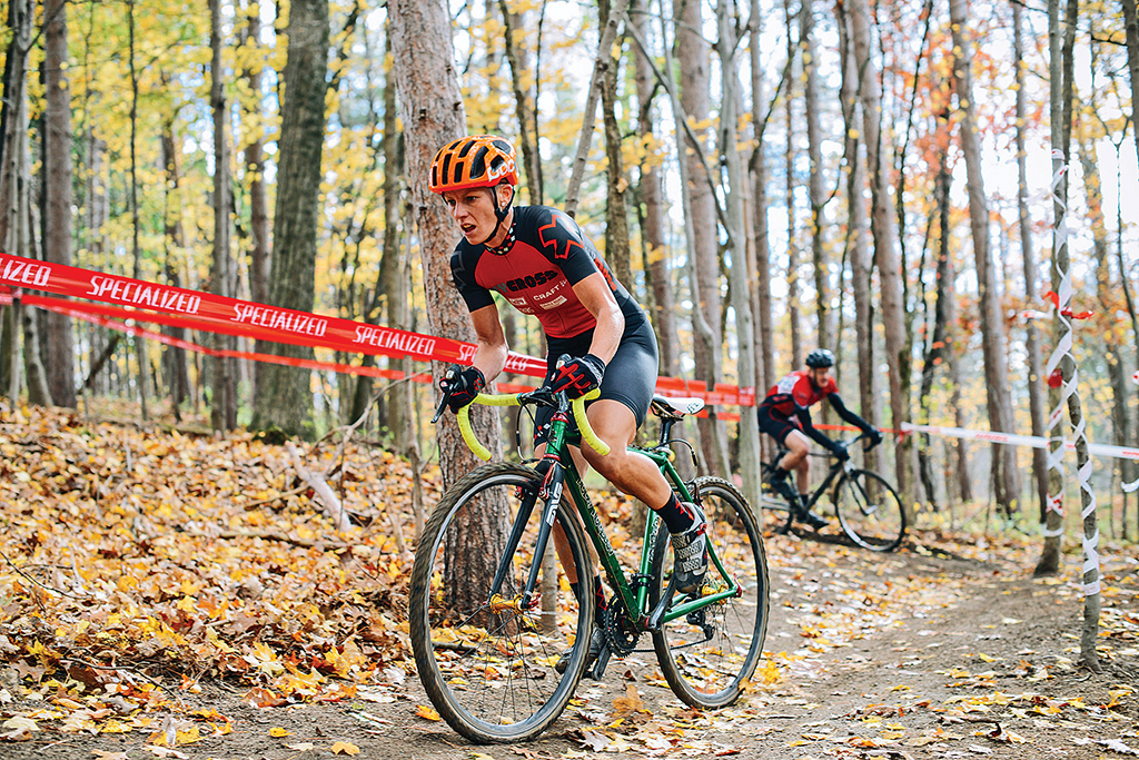 Abigail Isolda (NYCROSS) of New York navigates the tricky woods section at the 2014 Spa: CX race.  Andrew Franciosa/andrewfranciosa.com
