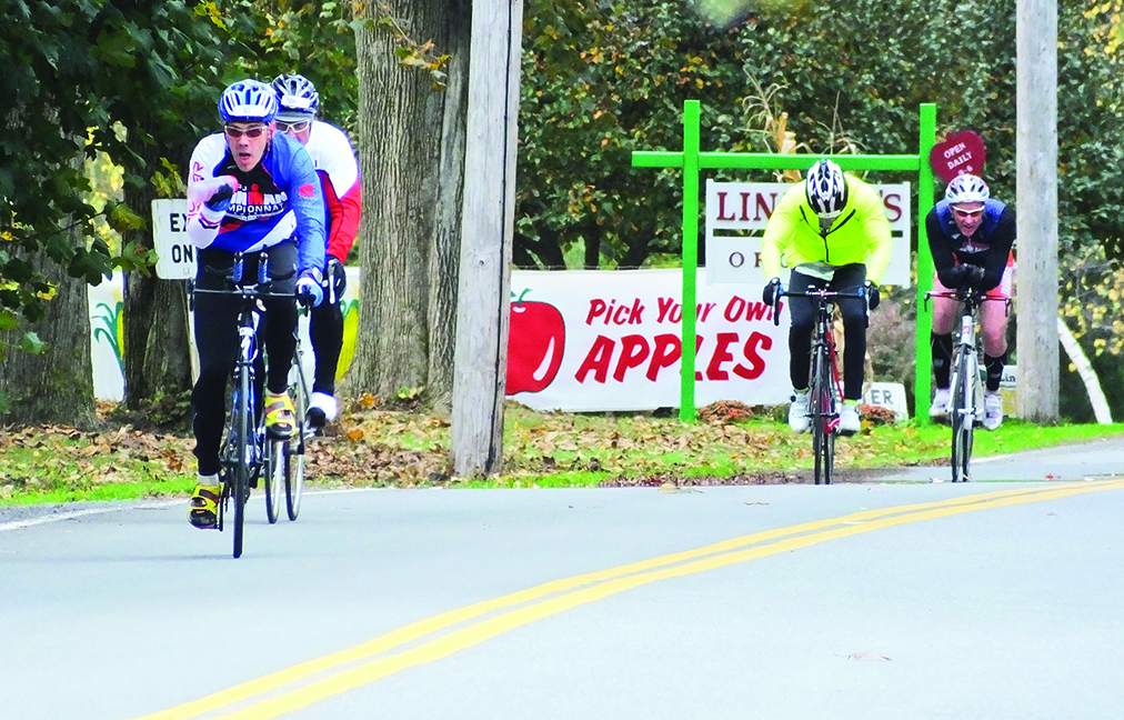 Apple country at 2014 Mohawk Towpath Byway Duathlon in Clifton Park.