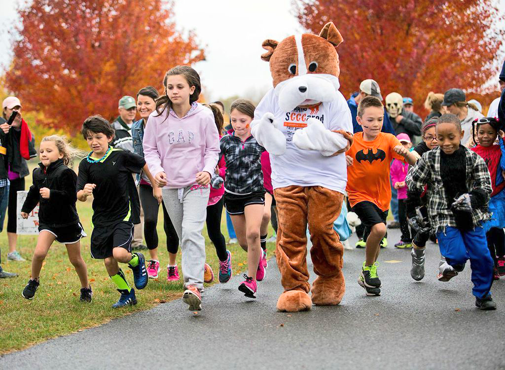 2014 Running SCCCared 5K Fright Run/Walk in Colonie.  Jill Peck Vona