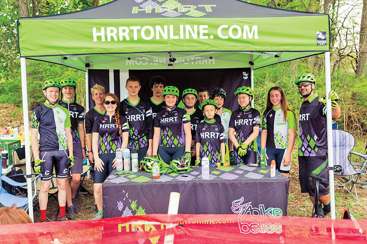 Team HRRT taking a break from racing in Schenectady's Central Par.