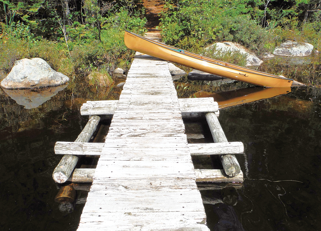 The footbridge between Lake Durant and Rock Pond.  Rich Macha