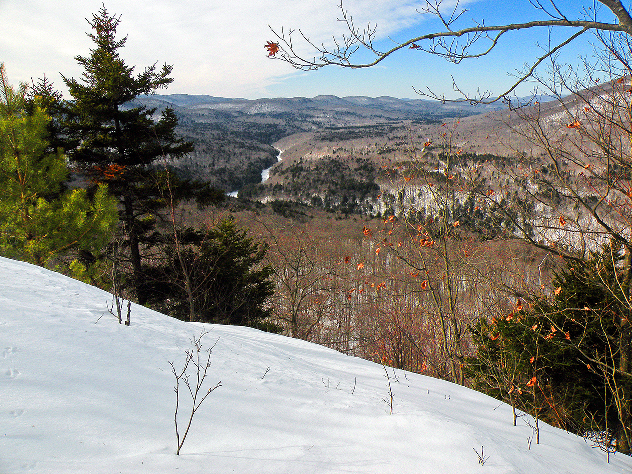 """A unique """"eagles view"""" of the West Branch Sacandaga from the west face of Finch.  Bill Ingersoll"""