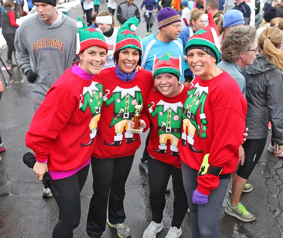 Having a good time at the 2014 Our Towne Bethlehem Turkey Trot.    Our Towne Bethlehem
