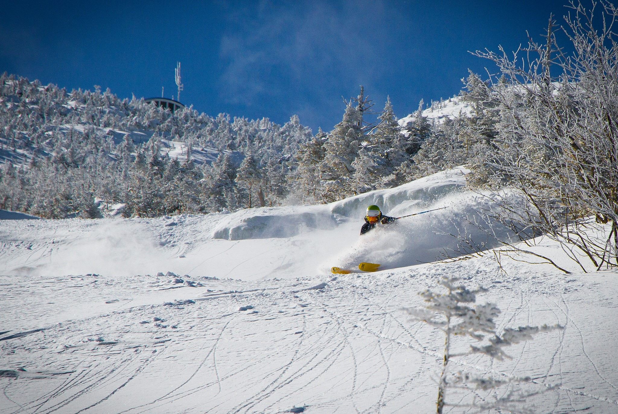 It's coming... mid-season at Whiteface.  Whiteface