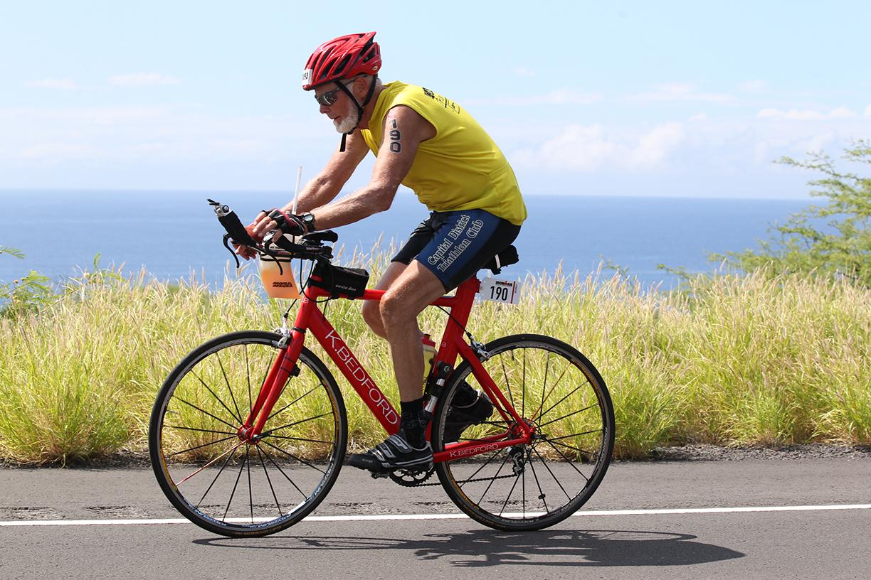 Bike at Ironman World Championship in Kona, Hawaii, on Oct. 10.