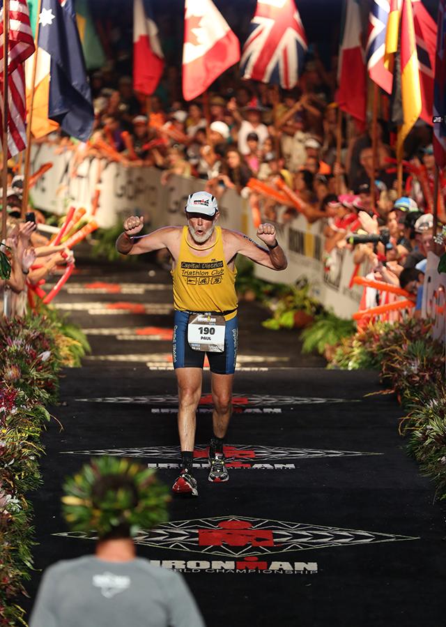 Finish at Ironman World Championship in Kona, Hawaii, on Oct. 10.