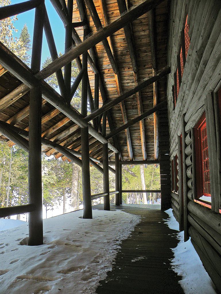 Camp Santanoni verandah.   Bill Ingersoll