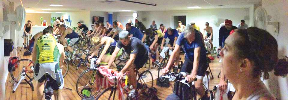 2015 spinning class at 365 Fit in Delmar.     John Guastella