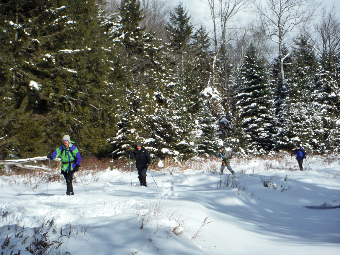 Skiing along a vly on North Branch.