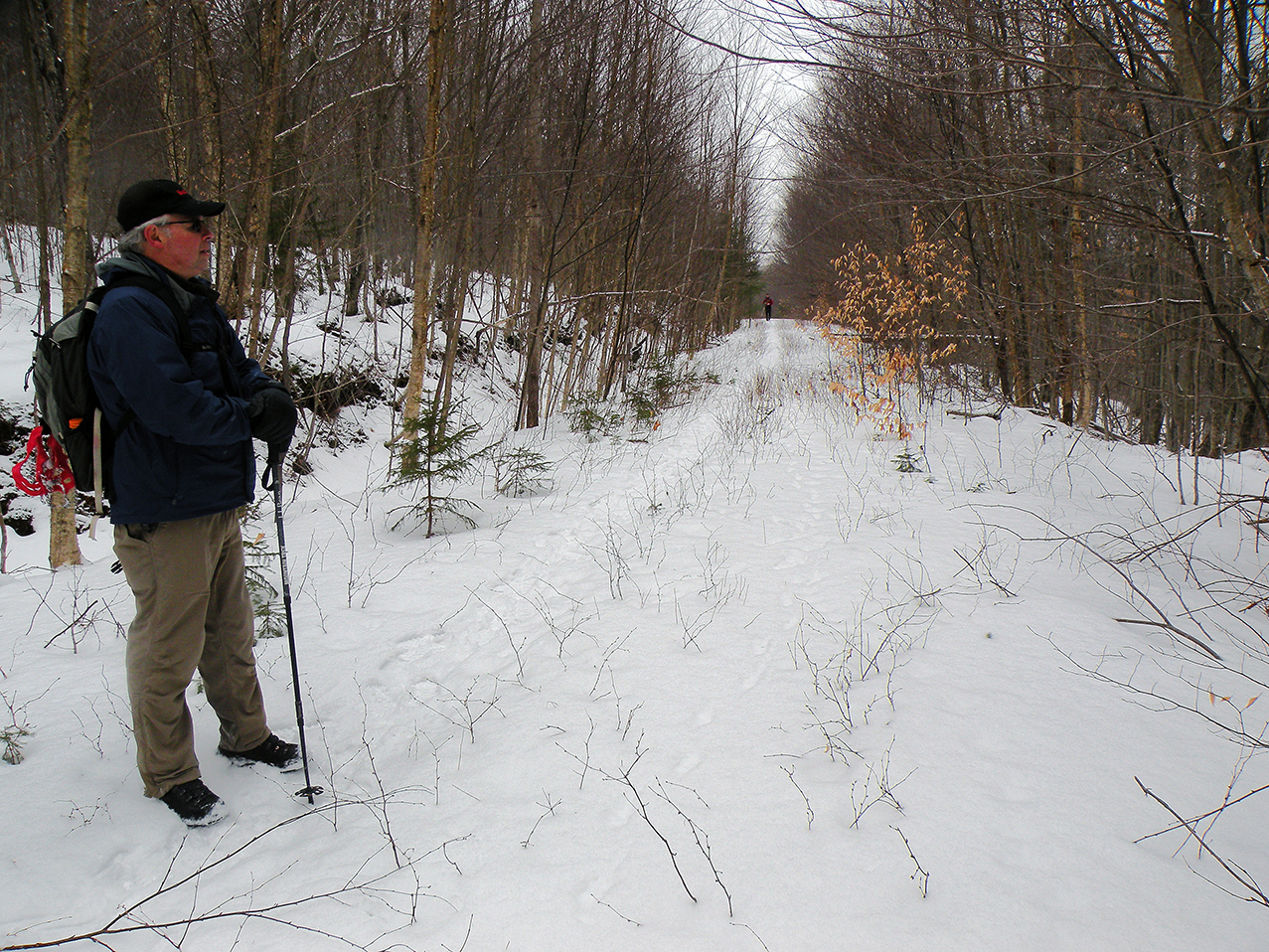 Hiking the South Shore trail.   Bill Ingersoll