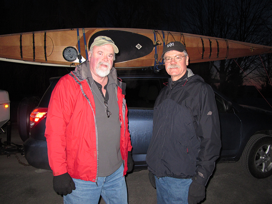 Geezers leave town:  Mike Cavanaugh and Alan Mapes ready to leave the Northeast and 20 degree weather.