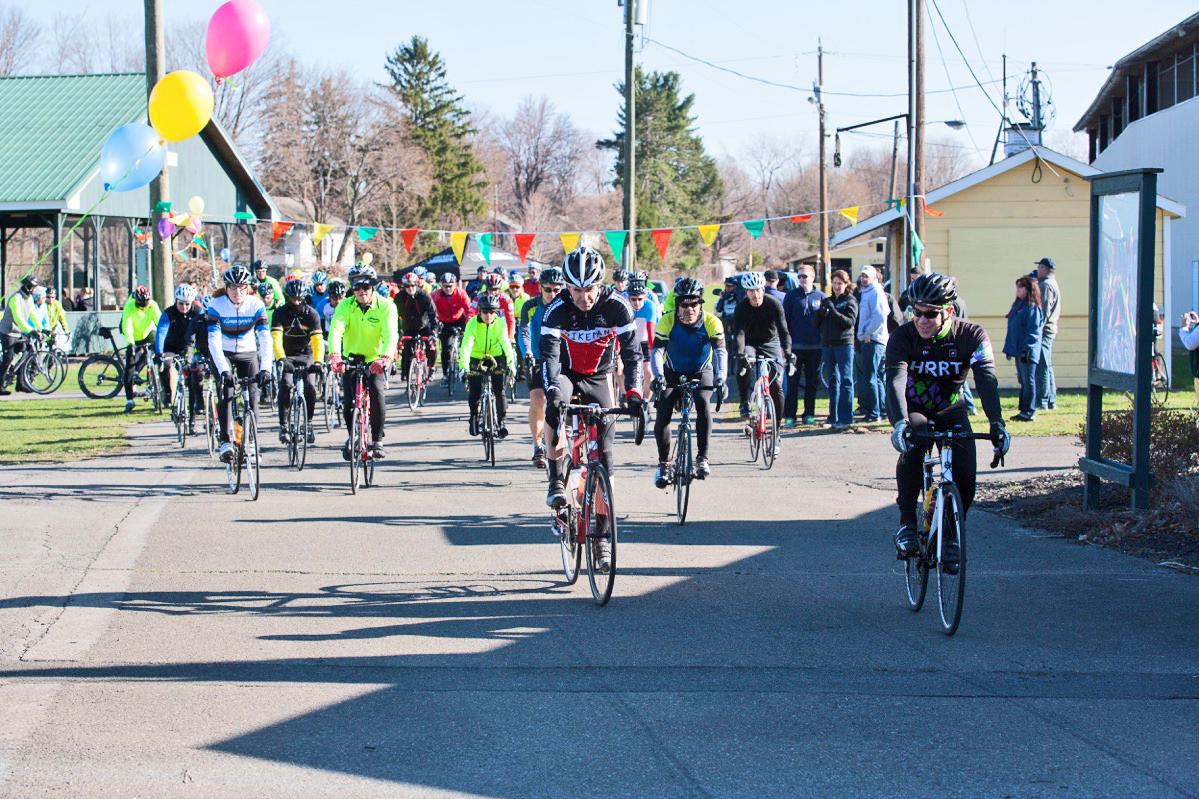 Start of the 2015 50-mile Sean's Ride.   Doug Stalker