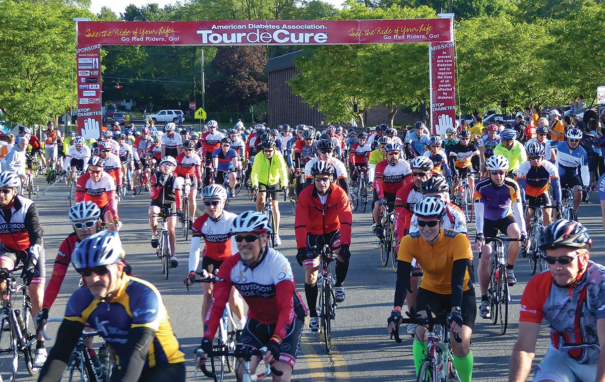 Start of the 2015 Tour de Cure.  Dave Kraus