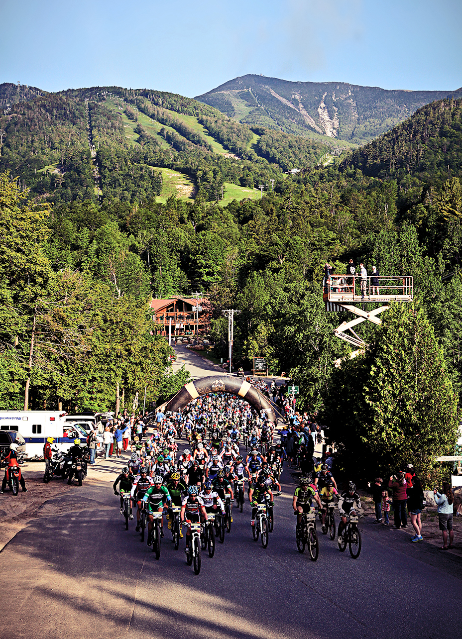 Start of the 2015 Wilmington Whiteface XC MTB Race.   © Pat Hendrick Photography