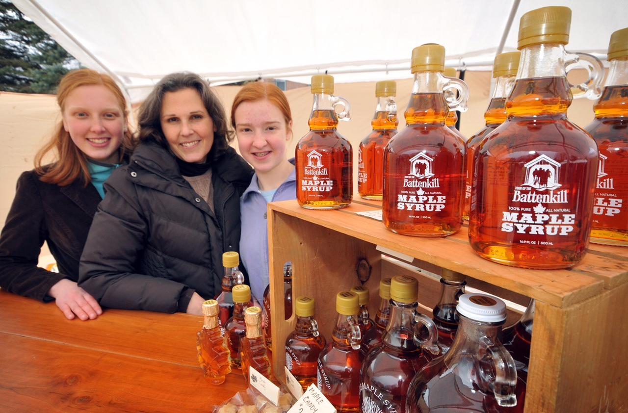"""The Davis Family with their maple syrup is a frequent participant in the race expo, which offers local products in addition to cycling gear.  2014 - © Dave Kraus        0   0   1   11   63   Cummings Advertising Art   1   1   73   14.0                      Normal   0           false   false   false     EN-US   JA   X-NONE                                                                                                                                                                                                                                                                                                                                                                           /* Style Definitions */ table.MsoNormalTable {mso-style-name:""""Table Normal""""; mso-tstyle-rowband-size:0; mso-tstyle-colband-size:0; mso-style-noshow:yes; mso-style-priority:99; mso-style-parent:""""""""; mso-padding-alt:0in 5.4pt 0in 5.4pt; mso-para-margin-top:0in; mso-para-margin-right:0in; mso-para-margin-bottom:8.0pt; mso-para-margin-left:0in; line-height:107%; mso-pagination:widow-orphan; font-size:11.0pt; font-family:Calibri; mso-ascii-font-family:Calibri; mso-ascii-theme-font:minor-latin; mso-hansi-font-family:Calibri; mso-hansi-theme-font:minor-latin;}"""