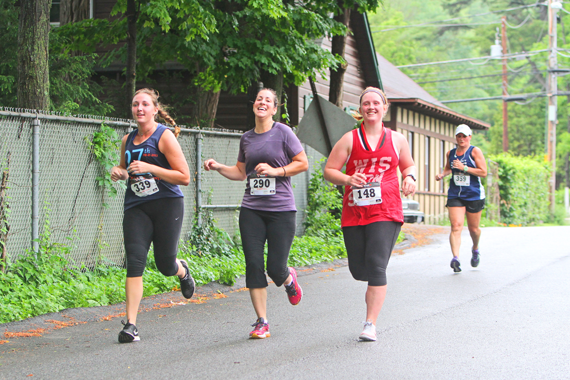▲  Finishing the 2015 Adirondack Distance Run along Lake George in Bolton Landing.    Brian Teague