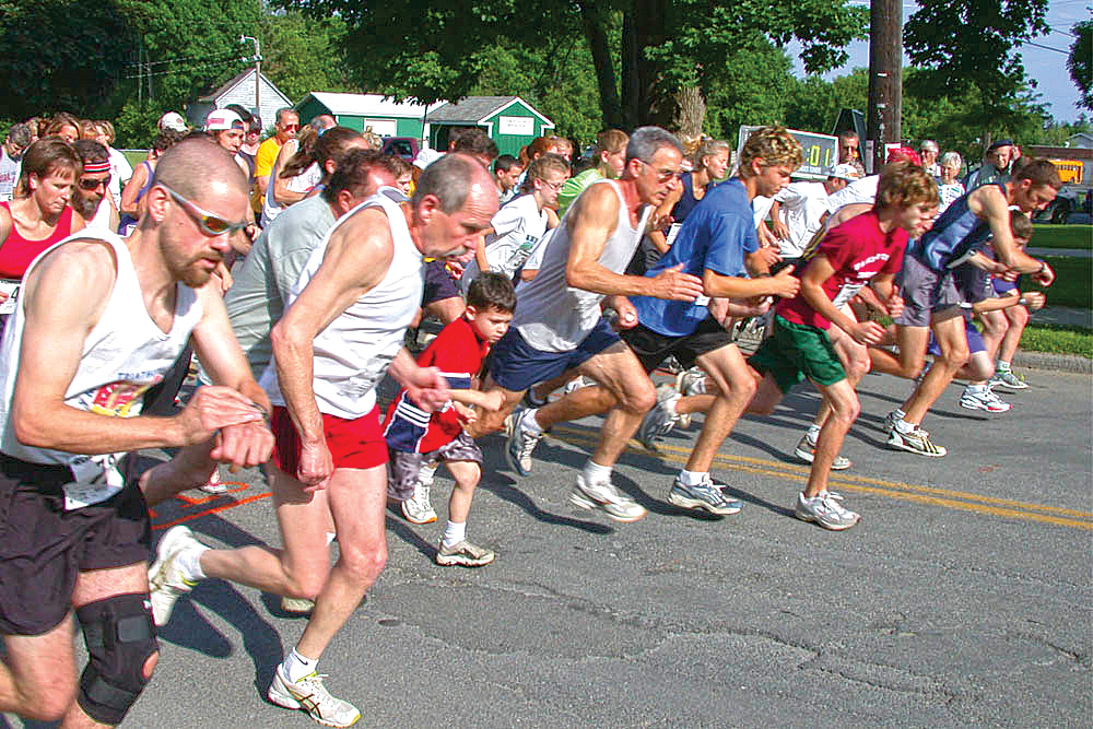 ▲   Start of the Whipple City 5K in Greenwich, which has a new 10K this year.