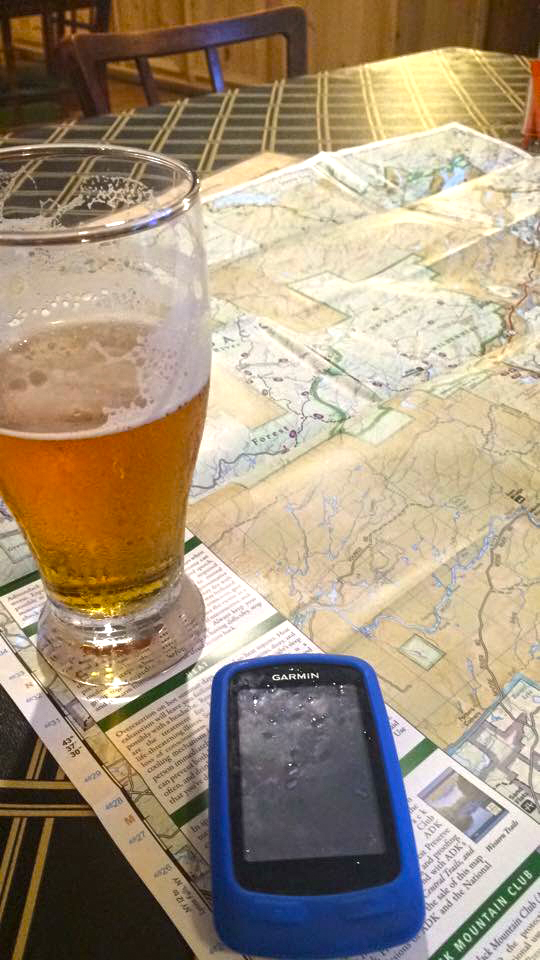 Taking time to refuel and plan the stopping point for a night of camping.  Janay Camp