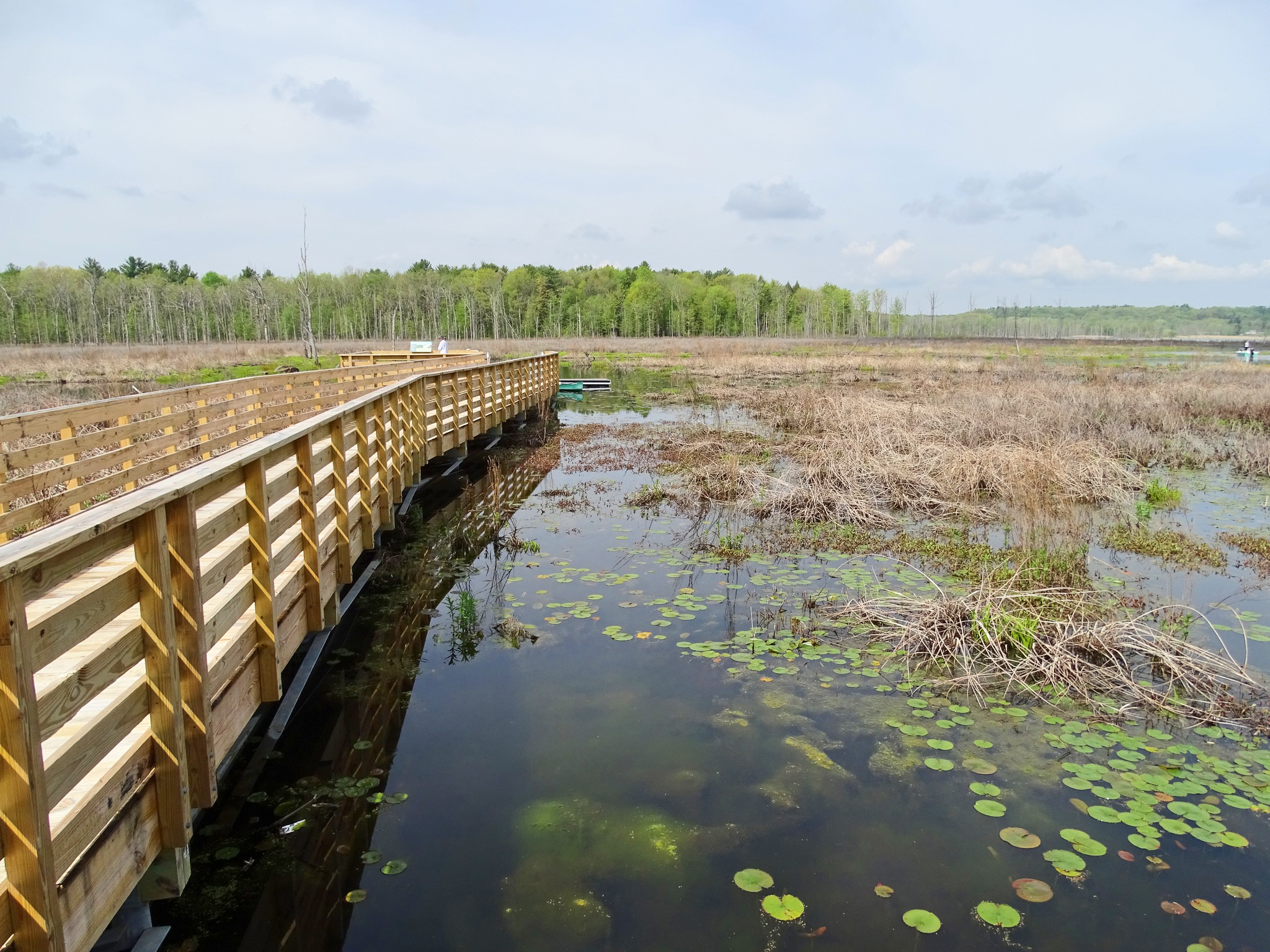 The boardwalk and launching dock on the Anthony Kill, Round Lake Preserve.   Alan Mapes