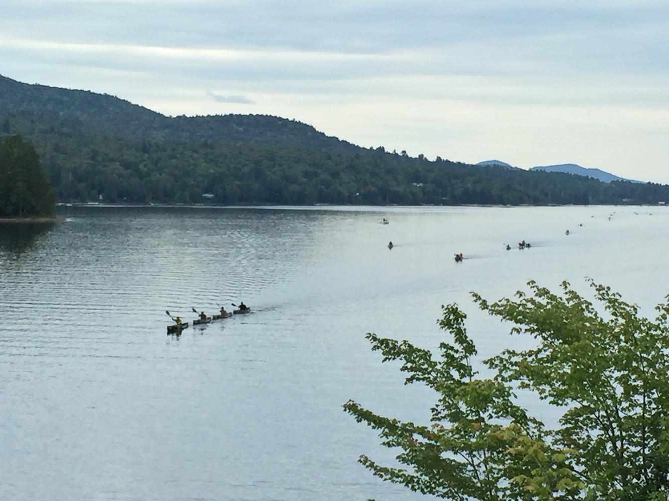Five minutes into Day 2, Long Lake.  Mark Kurtz