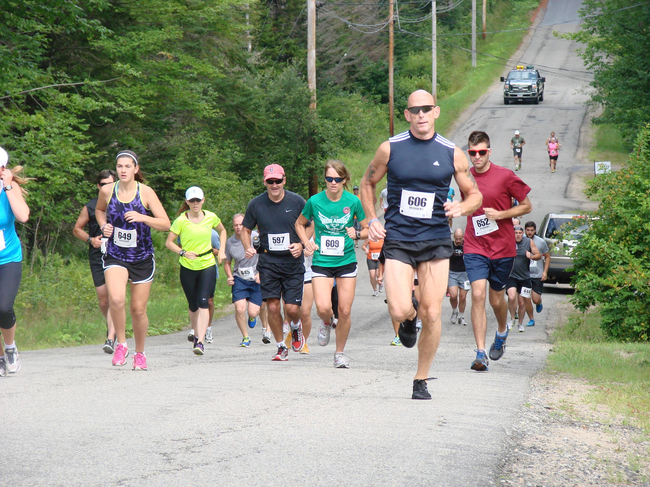 Lane 10K Lake Run road race from Lake Pleasant to Speculator.