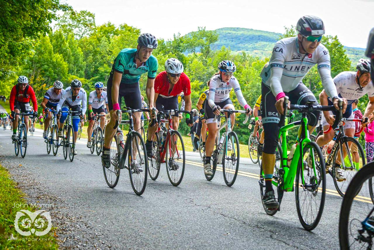 Challenging, fun 27-mile bike race at 2015 Josh Billings Triathlon.  John Marran