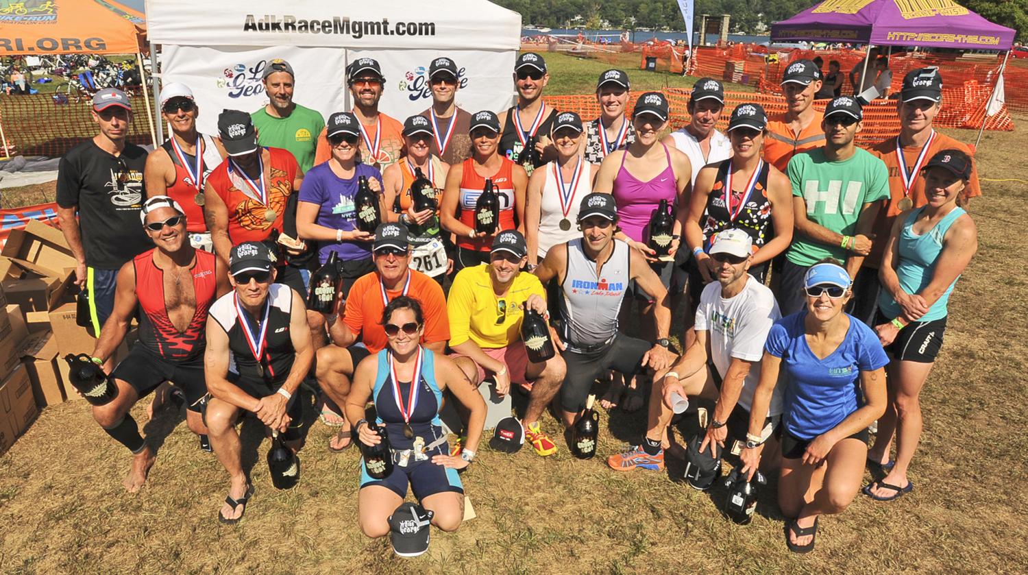 """2015 Lake George Tri """"King George"""" finishers did the Olympic Saturday and Half Sunday.    © Pat Hendrick Photography"""