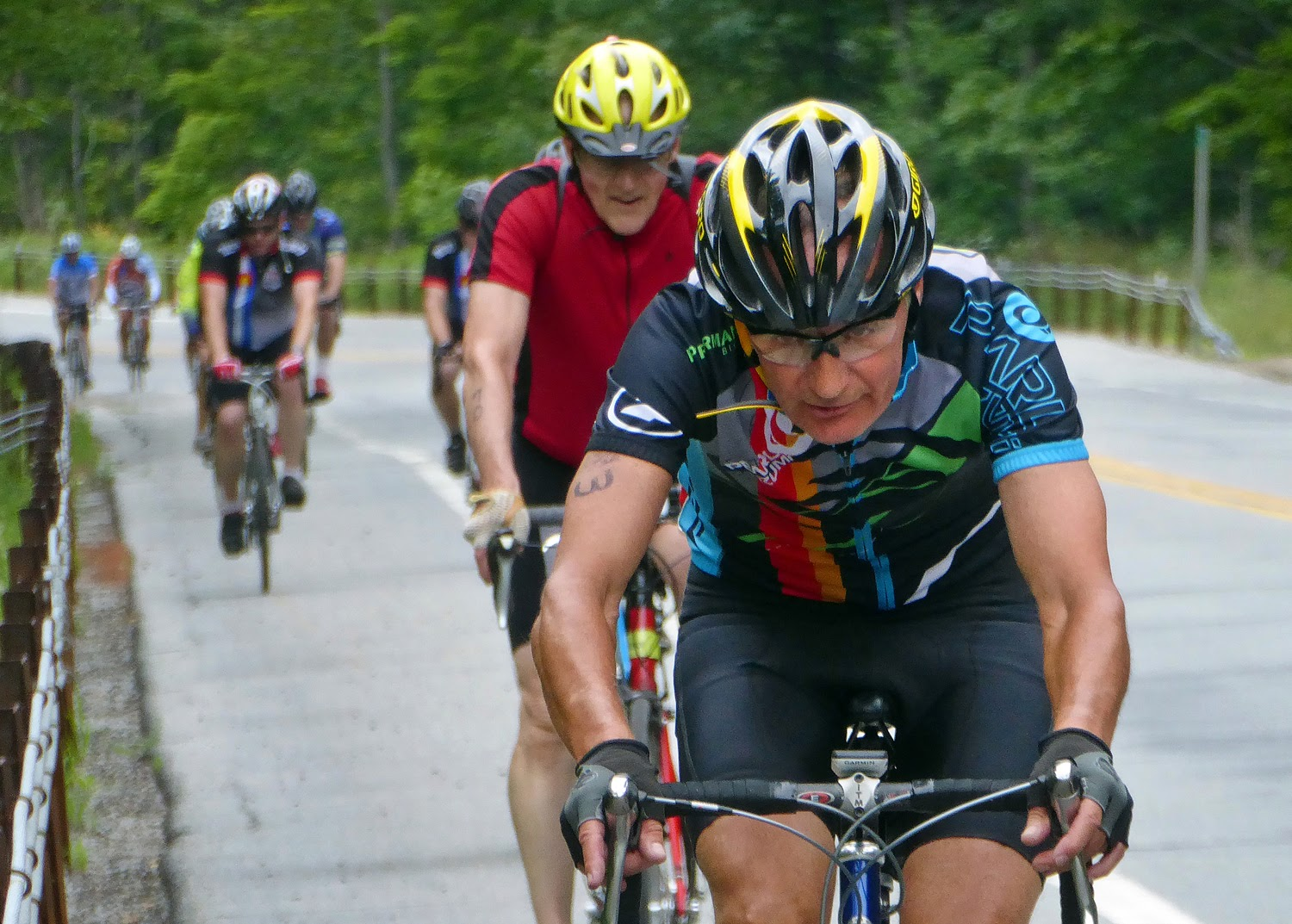 It's a hard pull on the steep climb north out of Speculator on Route 30. Copyright by Dave Kraus/ Krausgrafik.com