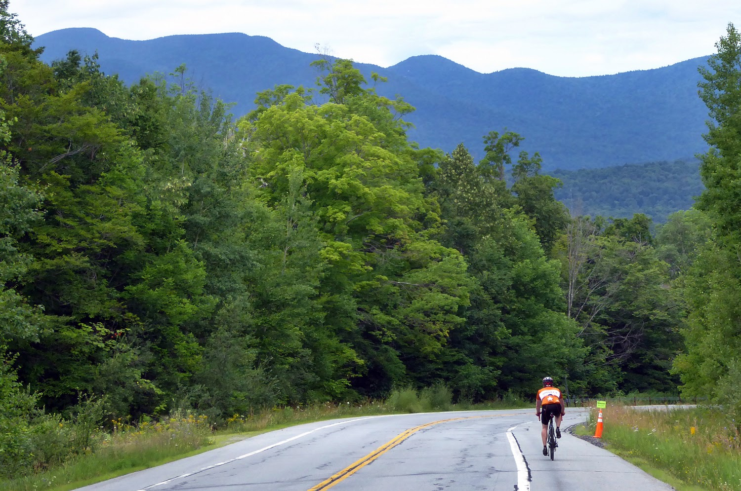 Evan Mayfield of Baltimore, MD, heads north on Route 30 toward Indian Lake. Copyright by Dave Kraus/ Krausgrafik.com