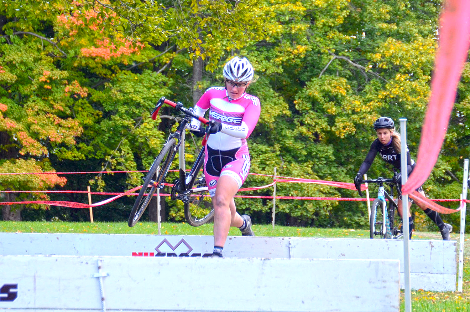 2015 NYCROSS Uncle Sam Grand Prix Race at Prospect Park in Troy; Open Women Race.   Jen Harvey