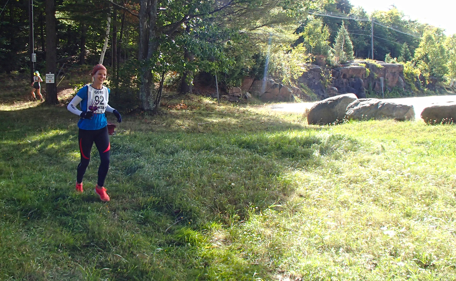 Kim Donegan of Malta at the 2015 Leaf Cruncher.   Courtesy of Gore Mountain