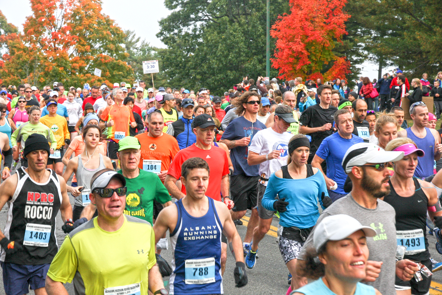 They're off at the 2015 Mohawk Hudson River Marathon. Bill Meehan