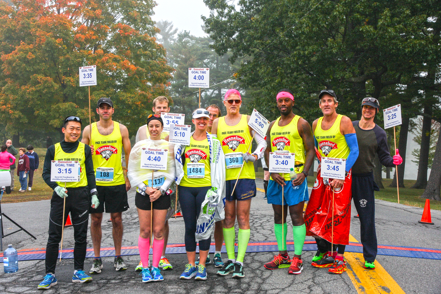 Marathon pace leaders are ready to go. Bill Meehan