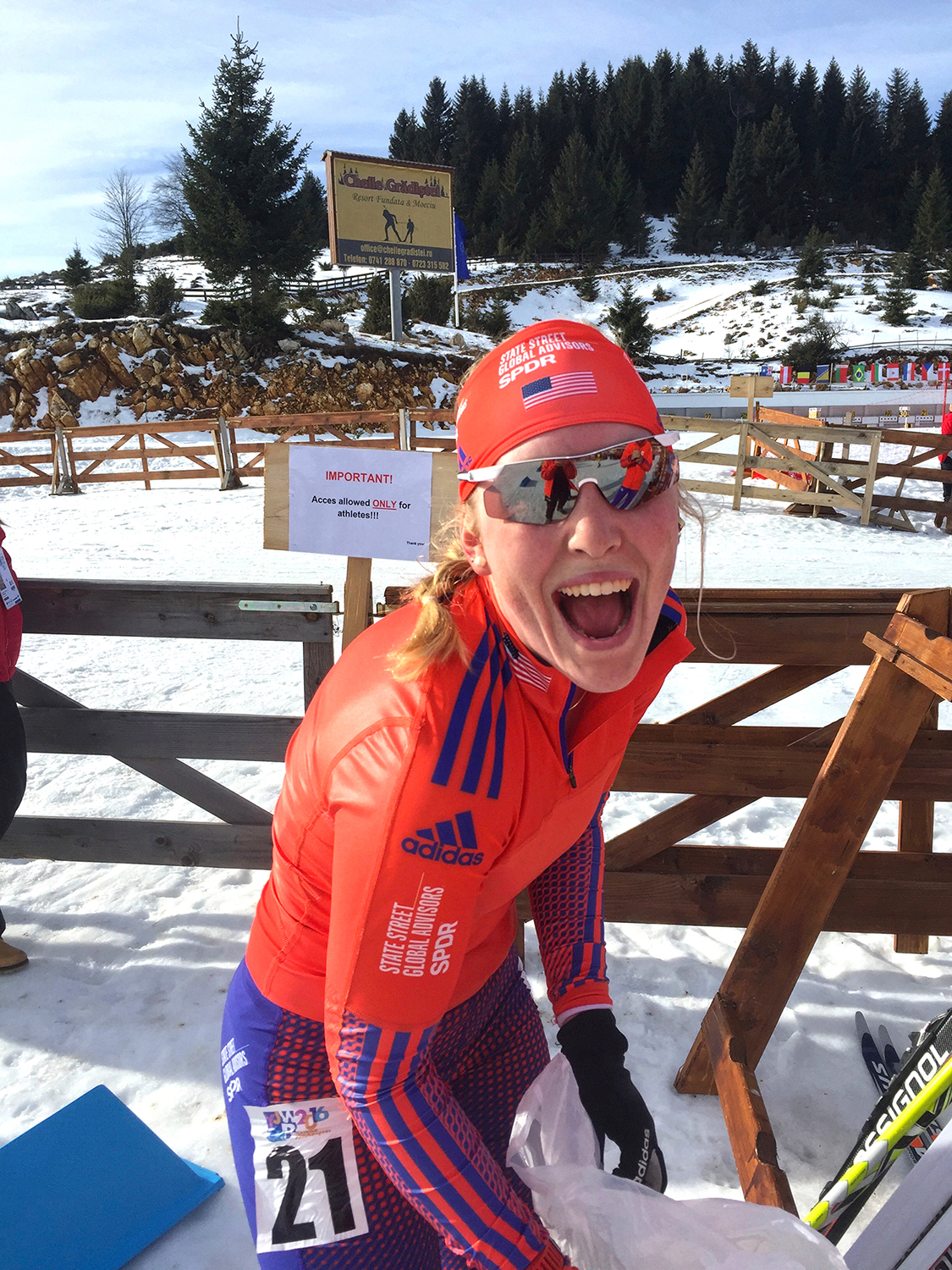 after placing fifth in the 12.5k individual race at 2016 Biathlon Junior World Championships in Cheile Gradistei, Romania.   Chloe Levins