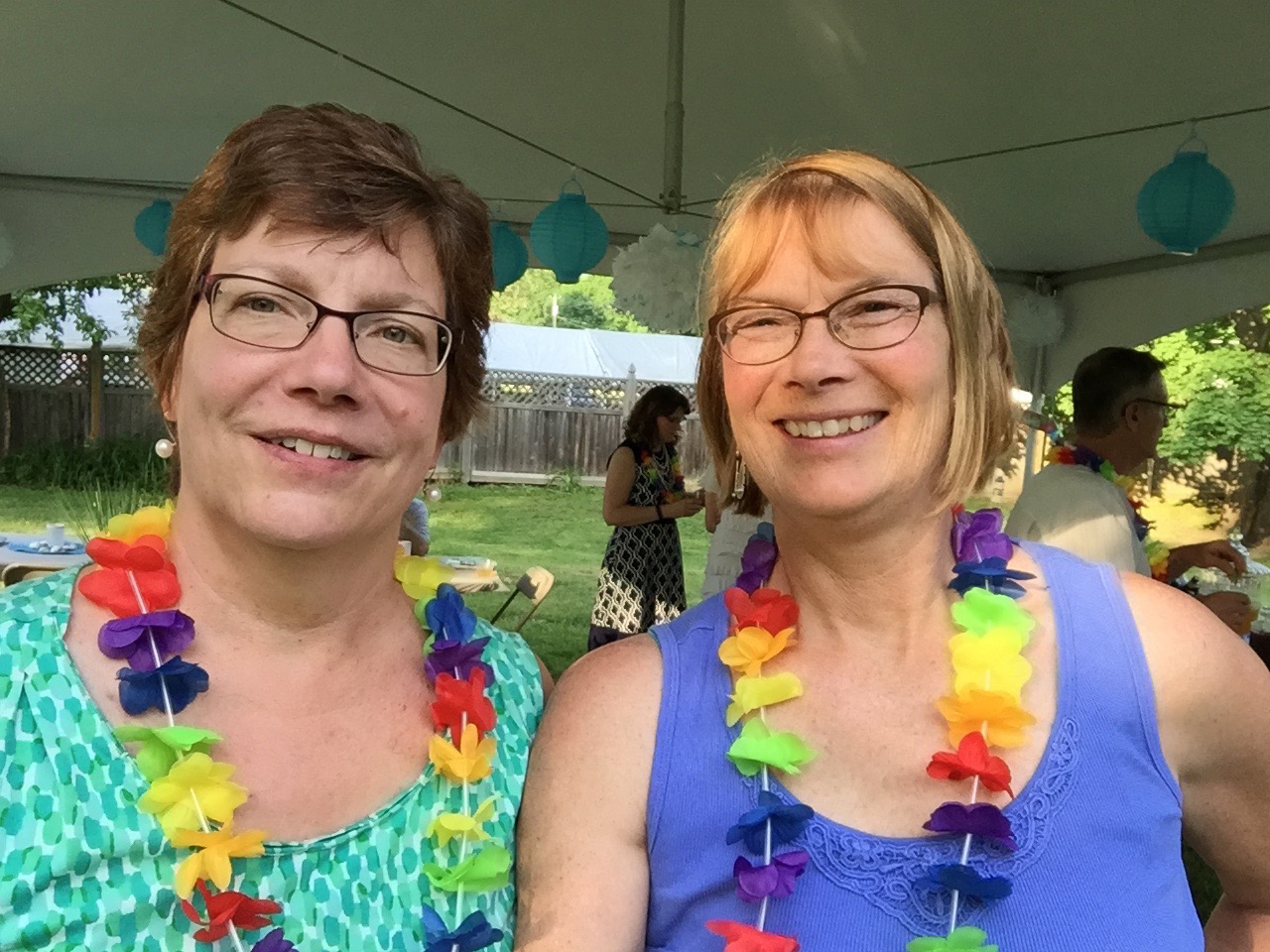 Virginia with her spouse, Kathy Simmonds.