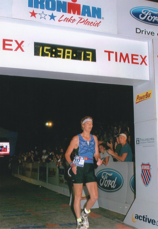 Finishing the 2011  Ironman  Lake Placid.