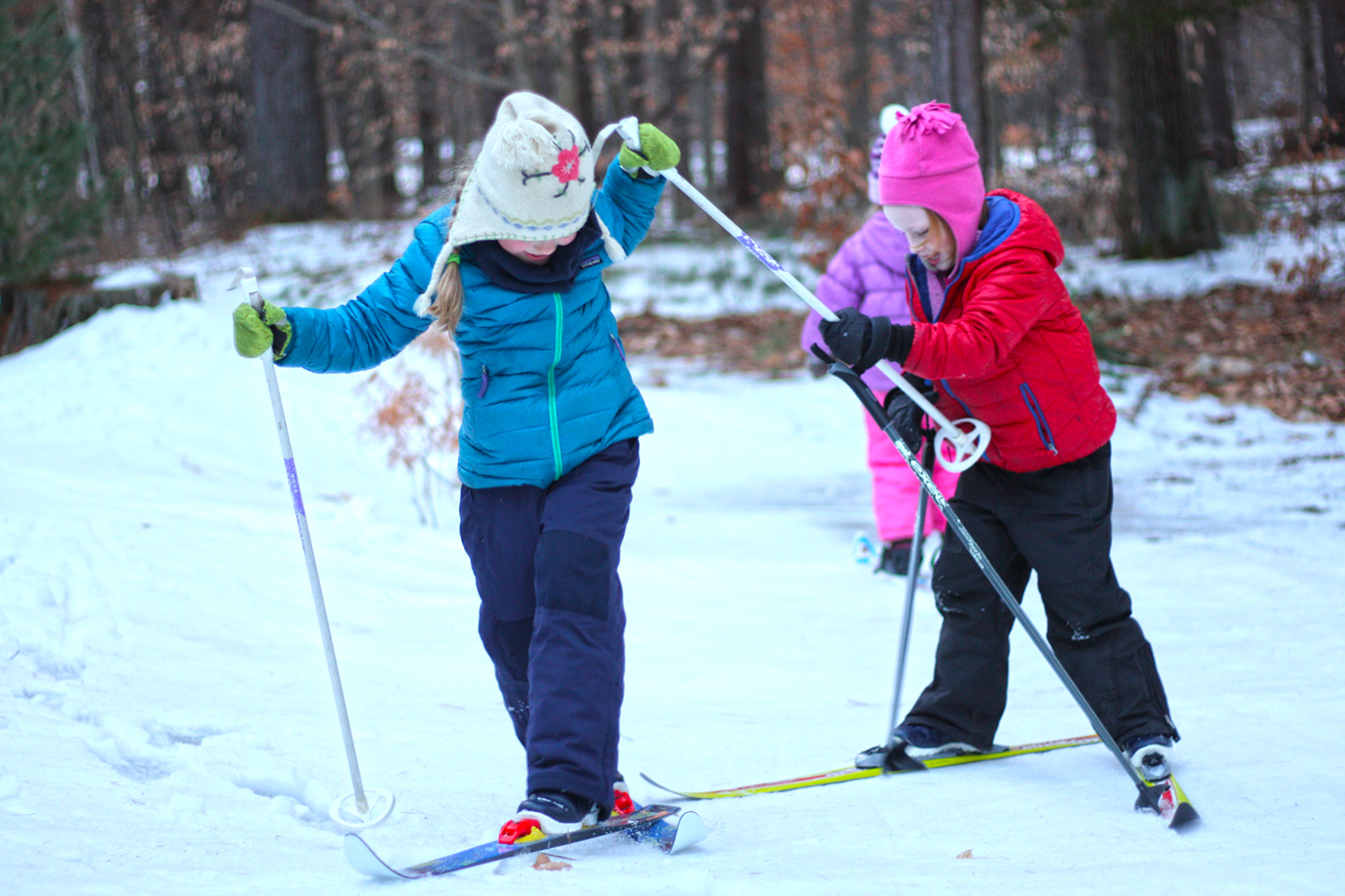 Skier fun on snow during weekly sessions in Greenfield.   Chris Yarsevich