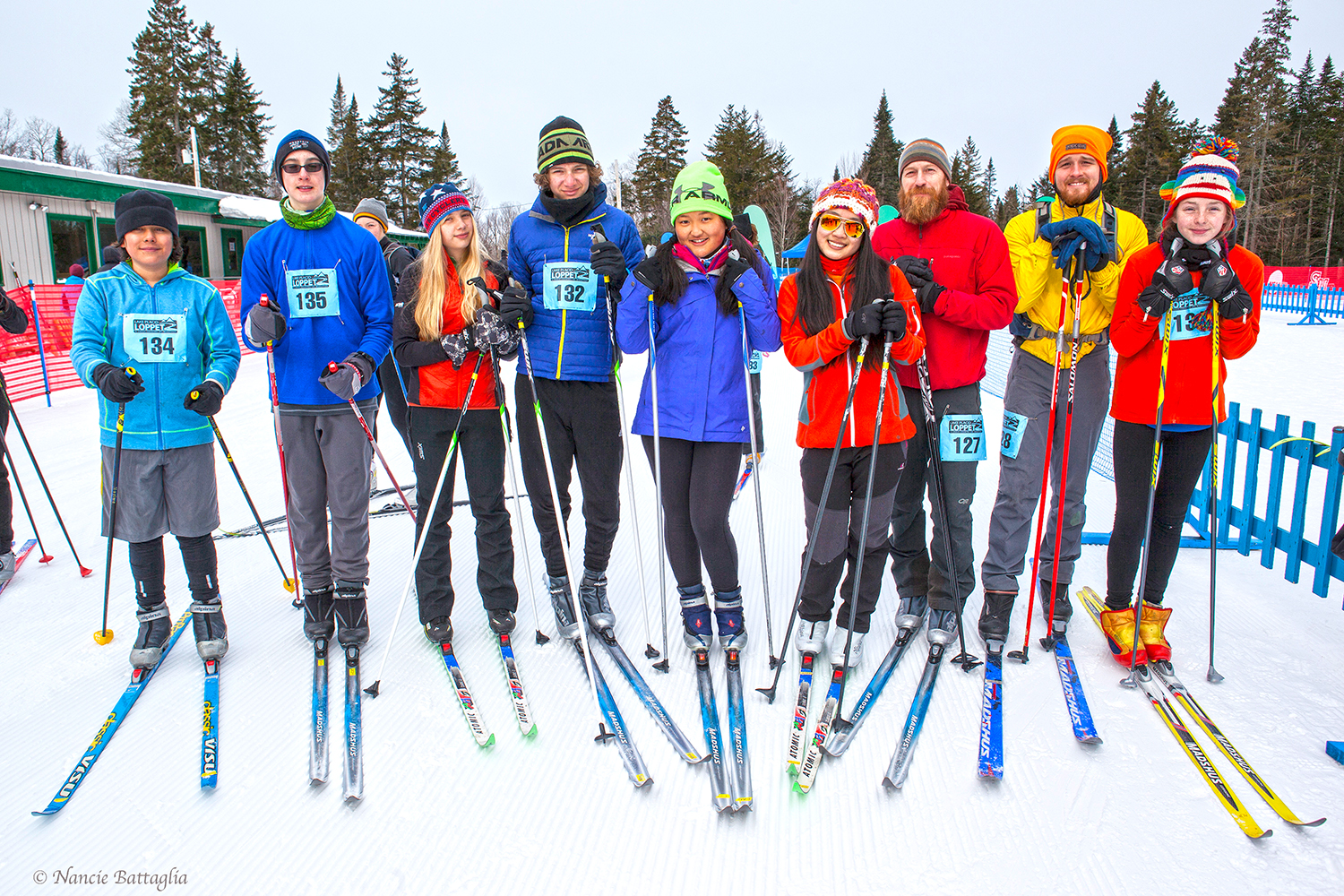 ▲ North Country School at the 2015 Lake Placid Loppet, a citizens endurance nordic ski race.  © Nancie Battaglia