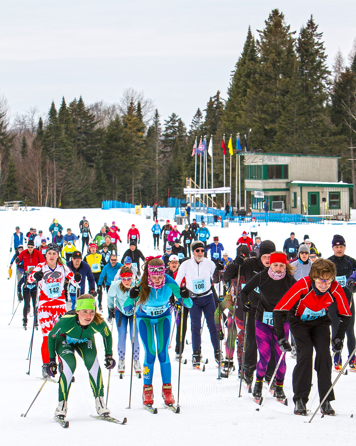 2014 Lake Placid Loppet.  Whiteface Lake Placid