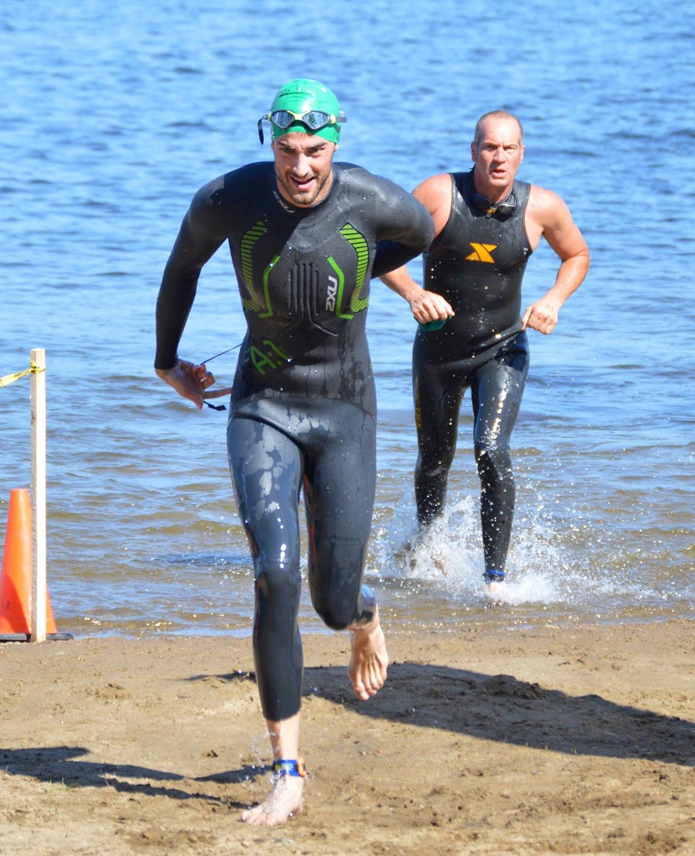 ▲ Daniel Halbig of Ballston Lake at the 2016 Great Sacandaga Challenge Triathlon.  Sarah Dzikowicz