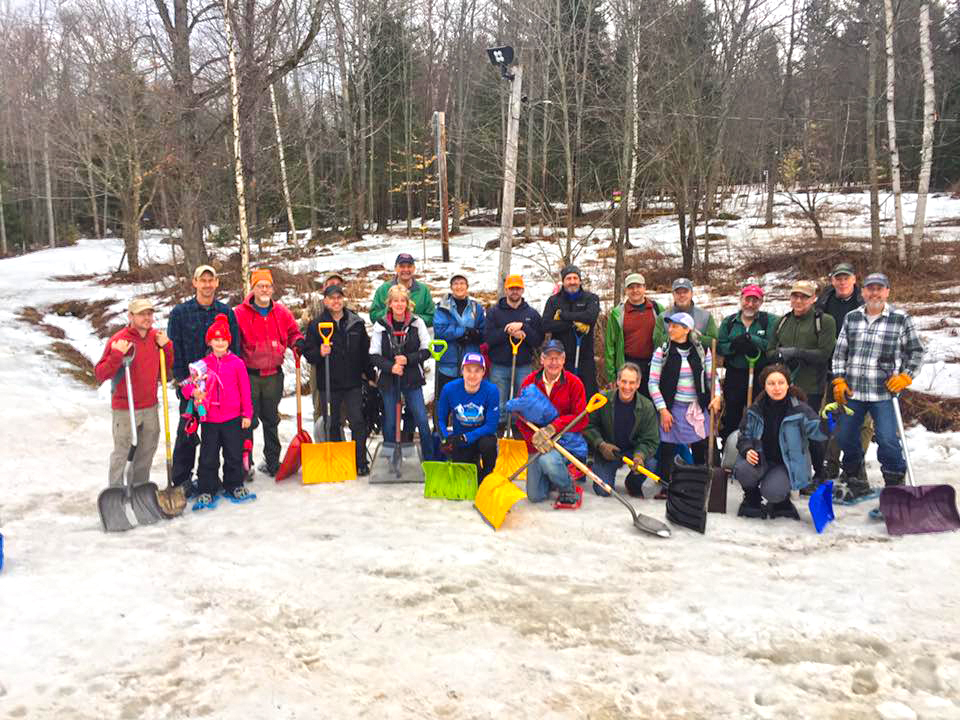 ■ Just some of the Dewey Mountain snow shovel volunteers.
