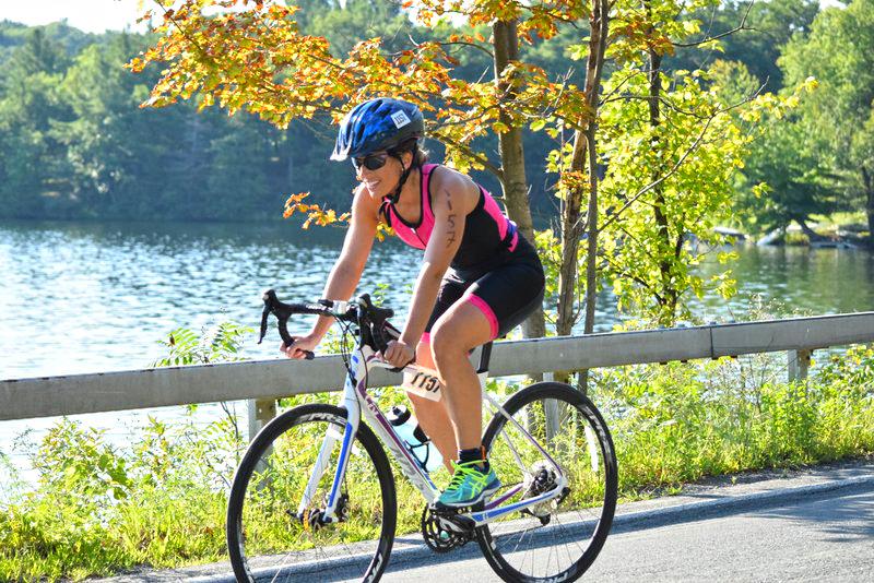 Rachel Rhymaun   of Hudson at   the 2016 Crystal   Lake Triathlon   in Averill Park.  Neil Sergott/  CDTC