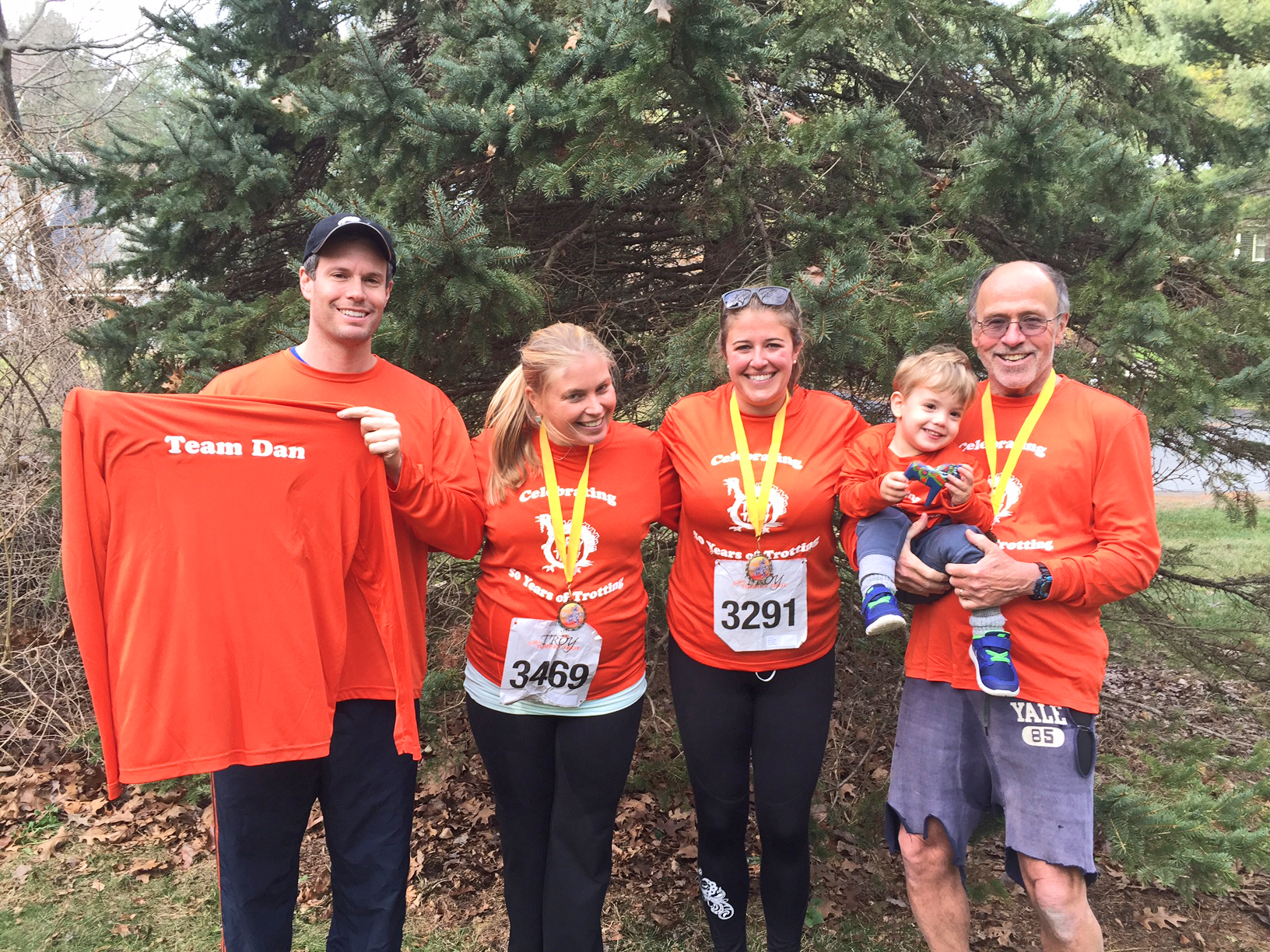 Turkey Trot/Thanksgiving 2016: Adam, Sunny, Nell, Brant and Dan.