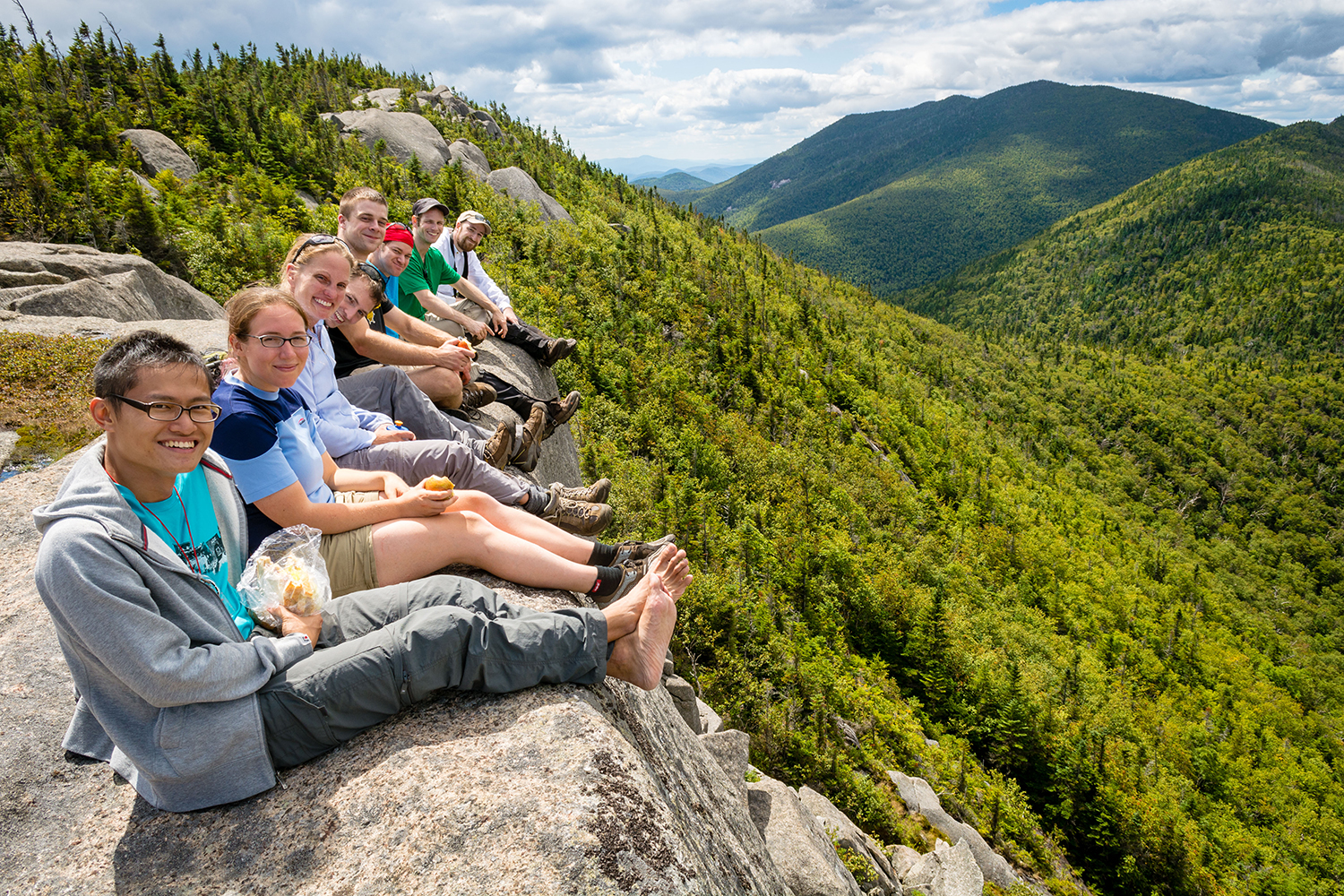 Young Members group on Grace Peak.   Photo by Stephanie Graudons