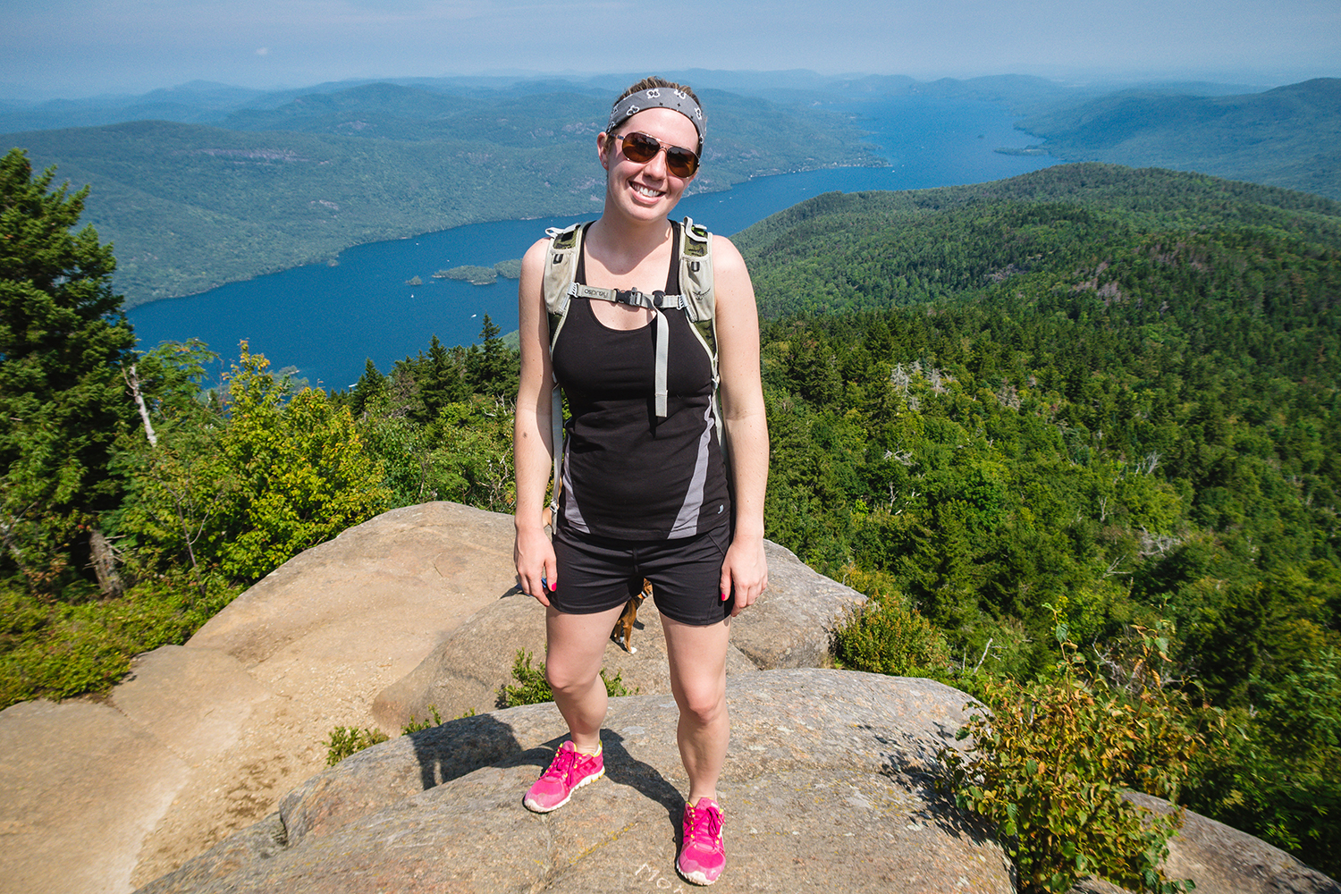 Brittany Graudons Mulhall enjoying a summer hike to Black Mountain.  Photo by Stephanie Graudons
