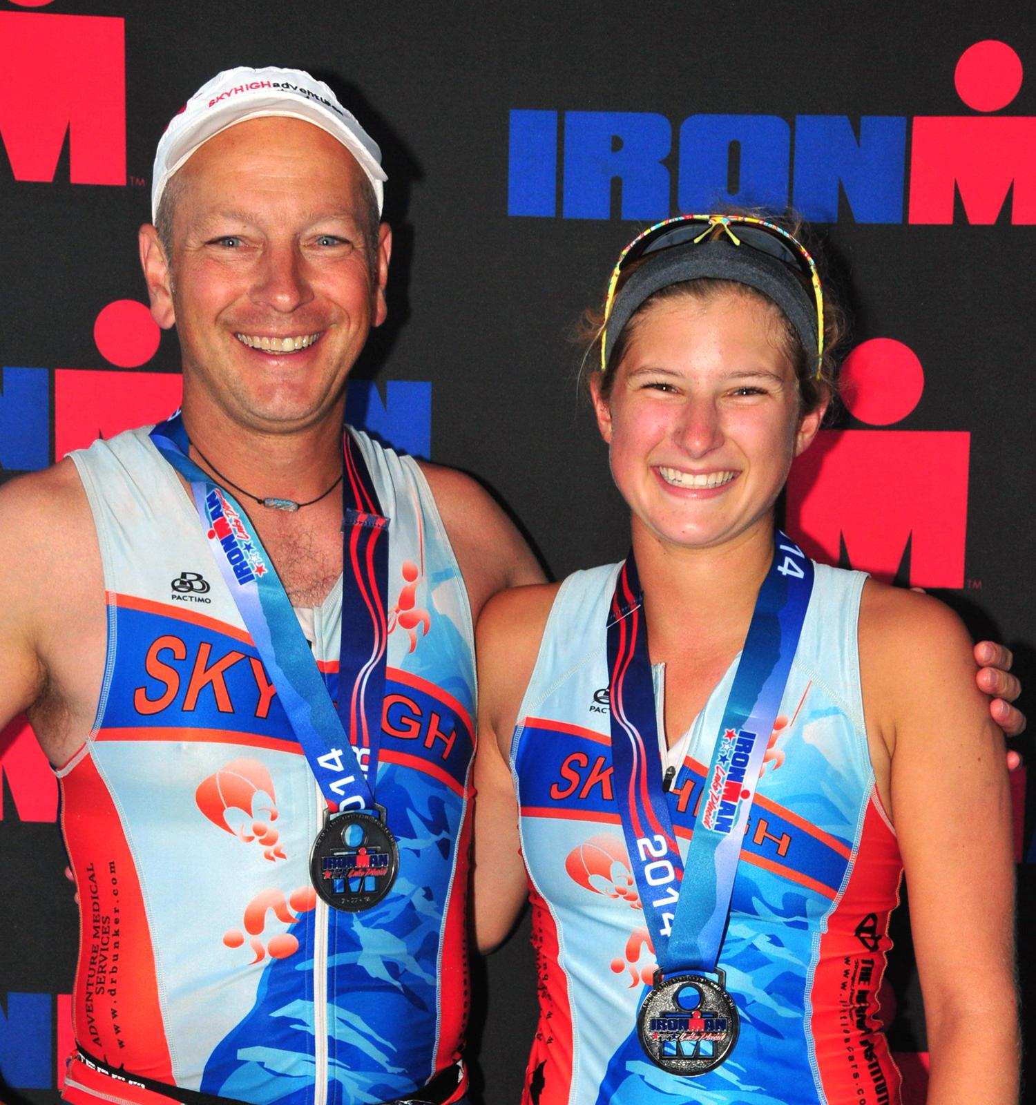 John and Julia,  2014 Ironman Lake Placid.