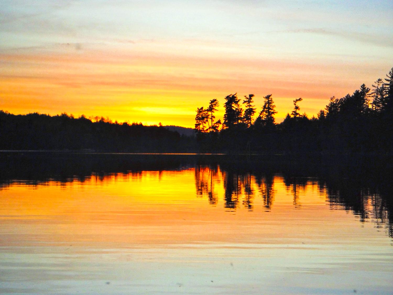 Rock Pond sunset.  Rich Macha